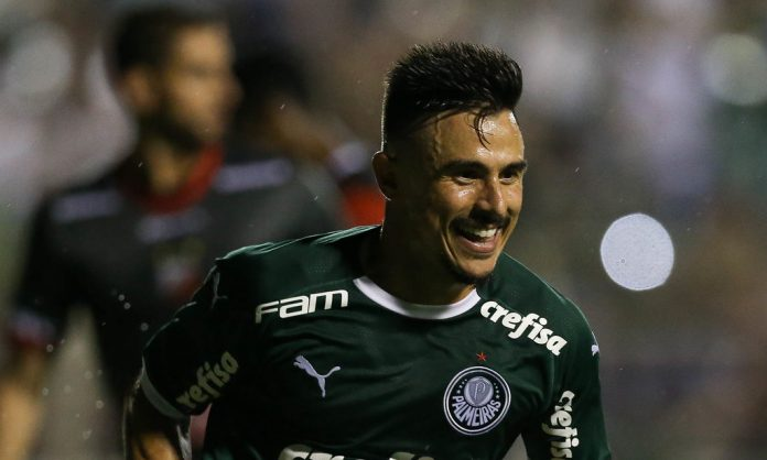 Gol de William fechou a goleada do Verdão em Itu (Foto: Cesar Greco/Ag. Palmeiras)