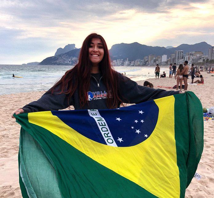 Nicole Calderón no Rio de Janeiro