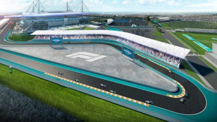 O circuito de Miami, no entorno do Hard Rock Stadium (Foto: Divulgação/F1-Mia)