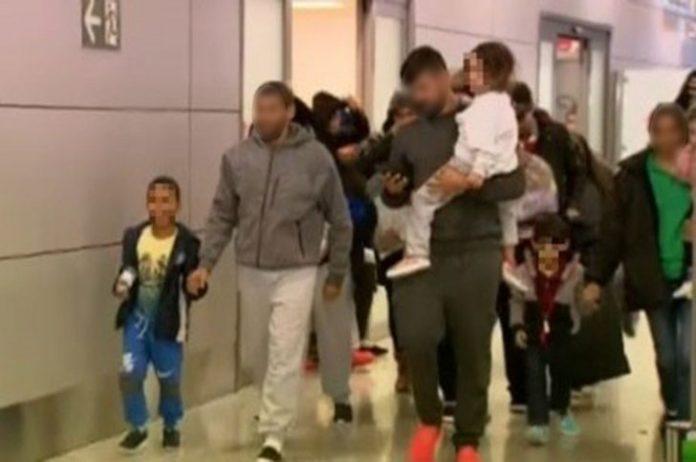Muitas crianças e adolescentes estavam em voo (Foto: Reprodução TV Record Minas)