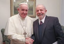 Papa Francisco e Lula (Foto: Ricardo Stuckert)