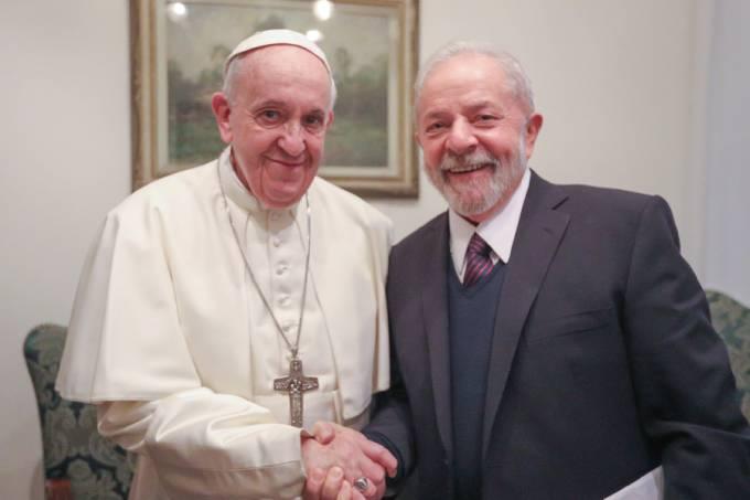 Papa Francisco e Lula (Foto: Ricardo Stuckert)