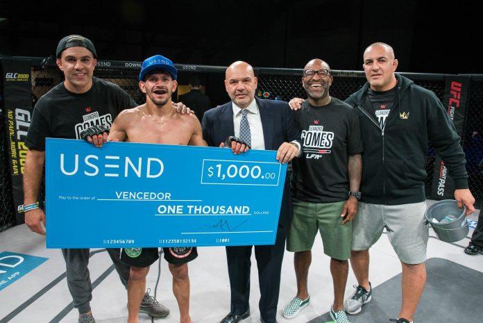 USEND é patrocinadora do UFC (Foto: Divulgação USEND)