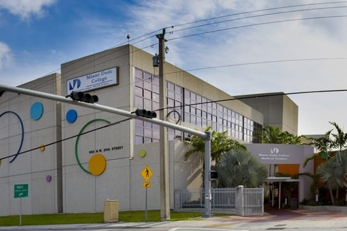 Campus de Medicina do Miami-Dade College está fechado (Foto Divulgação MDC)