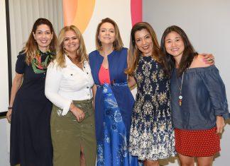 Daniela Ferreira, Patrícia Quinam, a personal stylist Annie B., Carmem Lima e Luciana Saji
