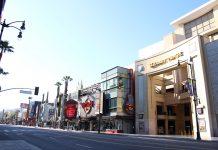 Calçada da Fama, em Hollywood: o maior ponto turístico de Los Angeles está deserto (Foto: Gabriela Egito)