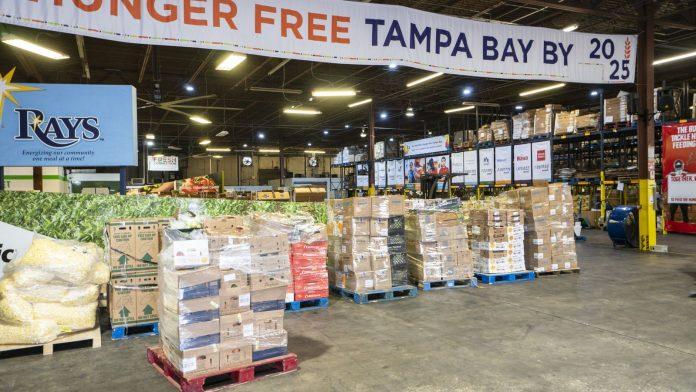 Toneladas de comida foram doadas (Foto Divulgação Busch Gardens)