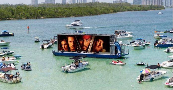 Festival de Miami terá cinema flutuante nos dias 12 e 19 de setembro em Miami Beach (Foto: Divulgação)