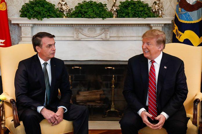 Os presidentes Donald Trump e Jair Bolsonaro (Foto: Alan Santos/PR)