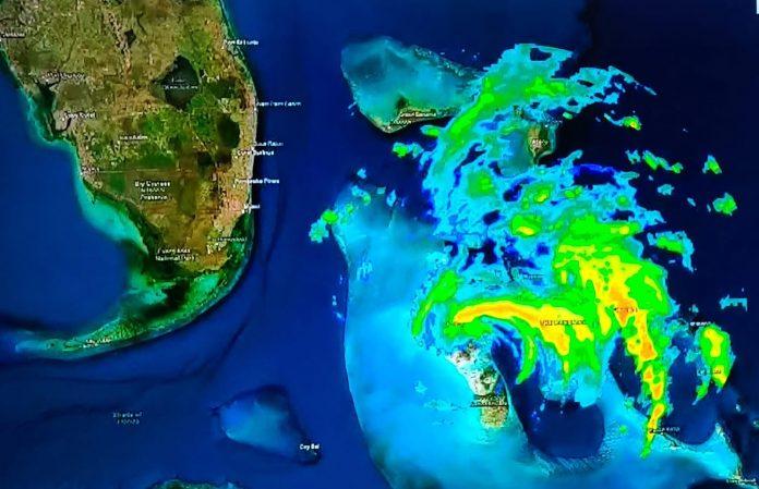 Furacão Isaías monitoramento Weather Channel (captura de tela