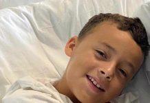 Matheus Farias, de oito anos, precisa de um transplante de medula óssea (foto: arquivo familiar)