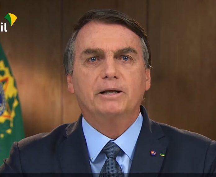 Bolsonaro discursa na abertura da 75º Assembleia da ONU (foto: reprodução TV Brasil)