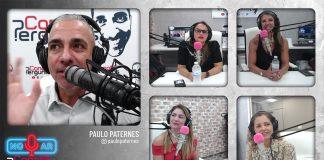 Paulo Paternes, do Canal Perguntas, durante entrevista com brasileiros no estúdio do seu canal (Foto: Reprodução)