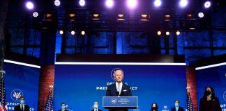 Joe Biden apresenta equipe de governo e reassume compromissos dos 100 primeiros dias (Foto: AFP)