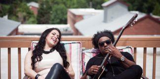 A cantora Fernanda Noronha ao lado do músico Peu Pereira (Foto: Divulgação)
