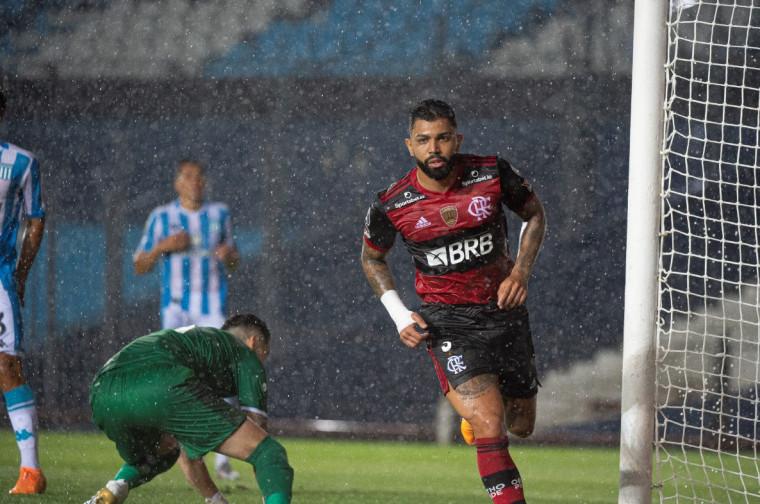 Gabigol marcou seu 11º gol e se tornou o segundo maior artilheiro do Flamengo na Copa Libertadores da América (Foto: Alexandre Vidal/Clube de Regatas Flamengo)