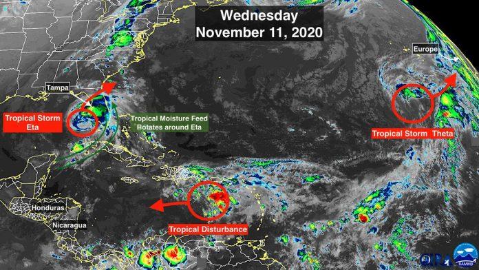 Imagem de satélite do NOOA (foto: NOOA)