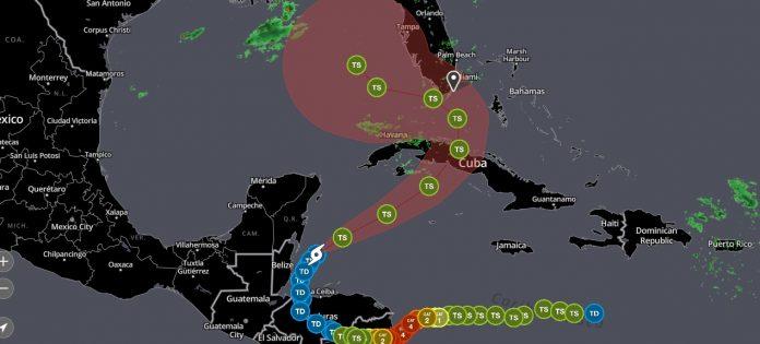 O NWS emitiu um alerta de inundação que deve durar até terça-feira (10) (foto: NWS)