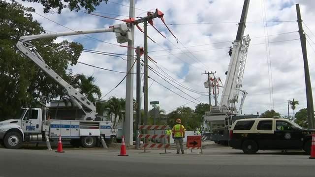 FPL anunciou uma força de trabalho para garantir o retorno da energia o mais breve possível (foto: FPL)