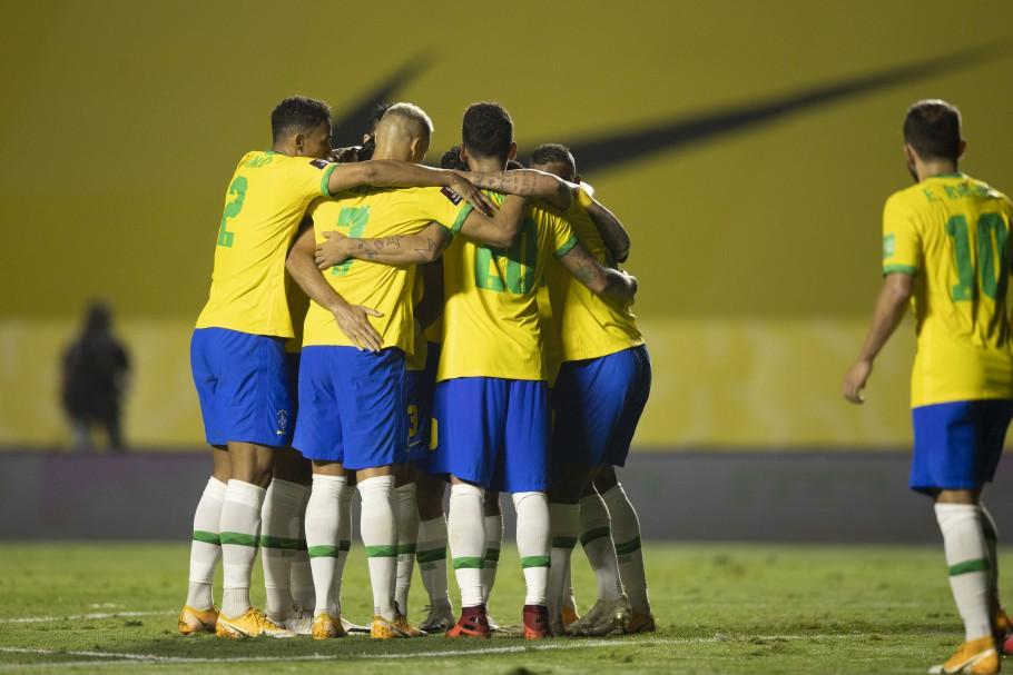 Brasil caminha a passos largos para carimbar sua presença na Copa do Mundo do Catar 2022 (Foto: Lucas Figueiredo/CBF)