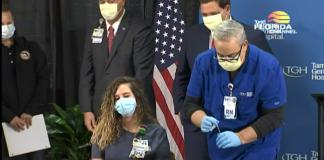 Vanessa Arroyo, 31, é enfermeira-chefe no Tampa General Hospital (foto: NBC reprodução)