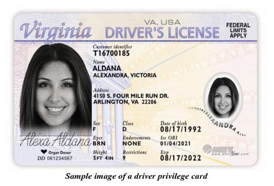 Virginia é o 16 º estado a permitir que imigrantes sem documentos tenham licença para dirigir (foto: DMV Virginia)
