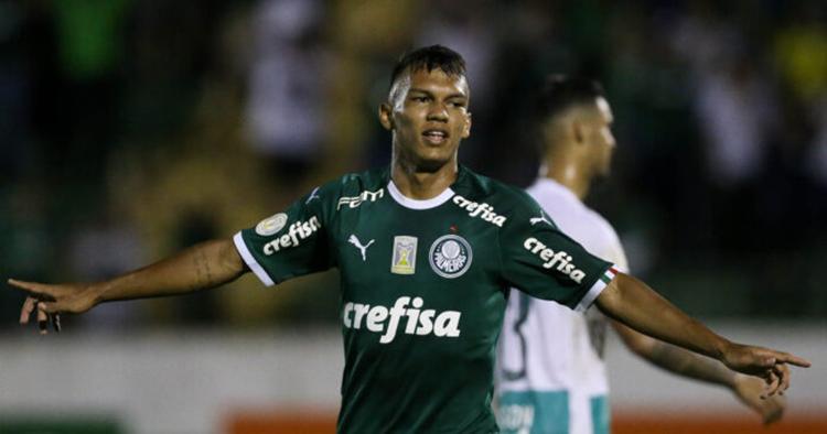 Gabriel Veron, de apenas 18 anos, foi eleito o melhor jogador em campo na goleada do Palmeiras sobre o Delfín (Foto: palmeirasonline.com)