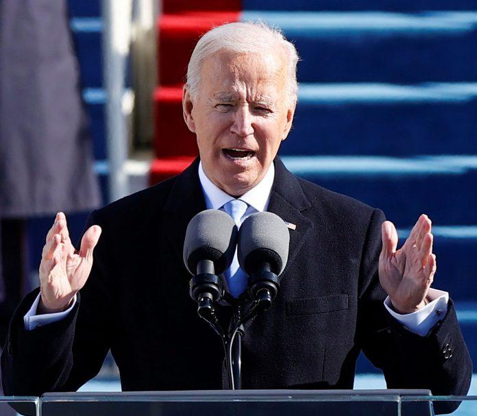 Joe Biden durante discurso de posse como 46º presidente dos EUA (foto: Reuters)