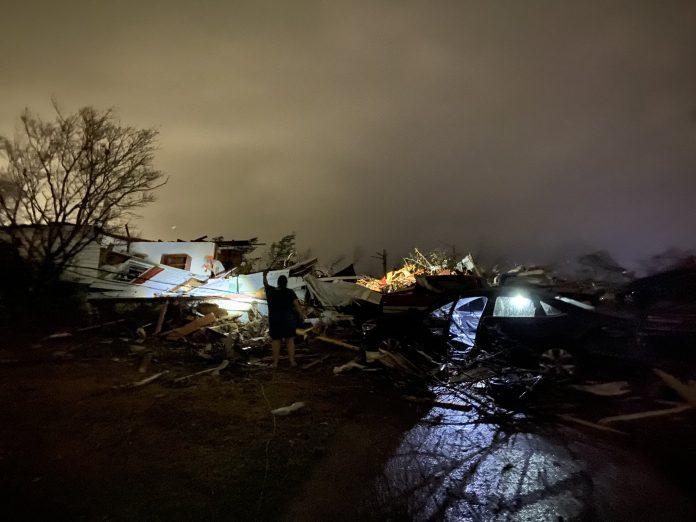 Cidade mais afetada foi Fultondane, no condado de Jefferson (foto: Reprodução Twitter)