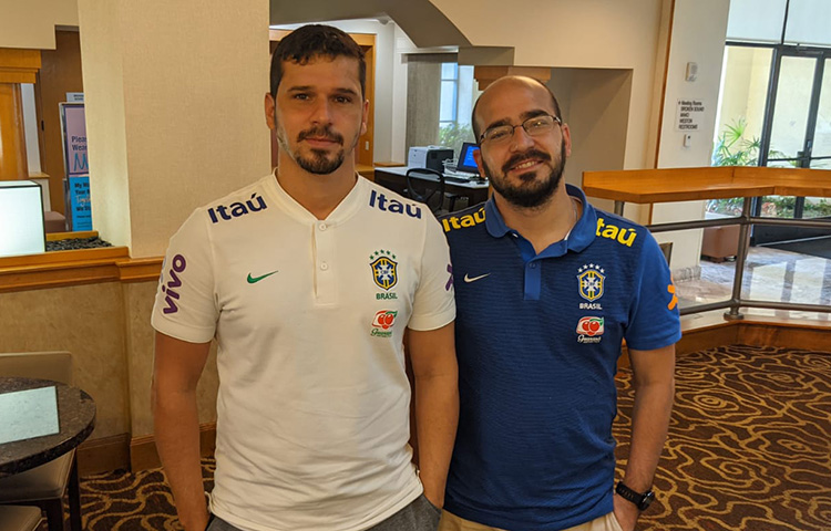 Gabriel Barreiro e André Penna, coordenadores das CBF Schools