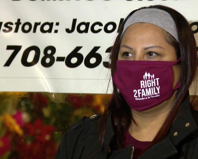 A imigrante mexicana Francisca Lino (foto: Univision reprodução)