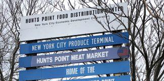 Entrada do Hunts Point Produce Market no The Bronx (Foto: Sandra Colicino)