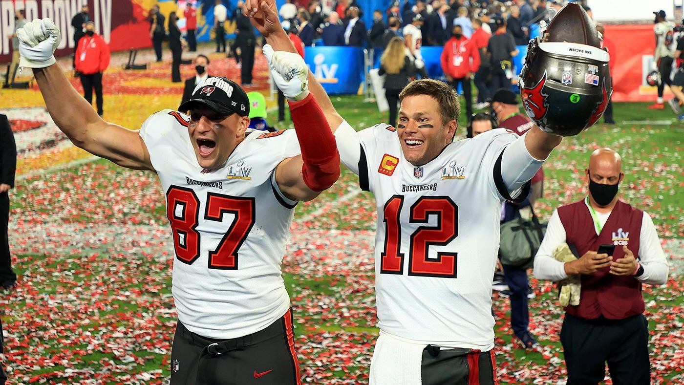Rob e Tom: a dupla dinâmica da NFL fatura mais um título de Super Bowl, desta vez em casa com o Tampa Bay Buccaneers (Foto: cbssports.com)