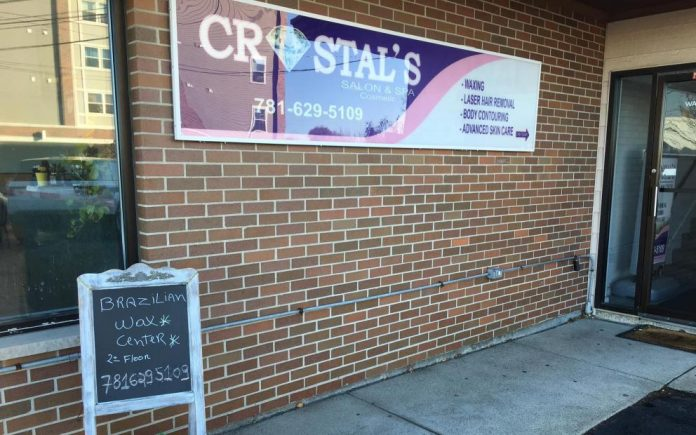 Crystal's Day Spa, funcionava na Washington Av. em Revere, MA (foto:mass.gov)