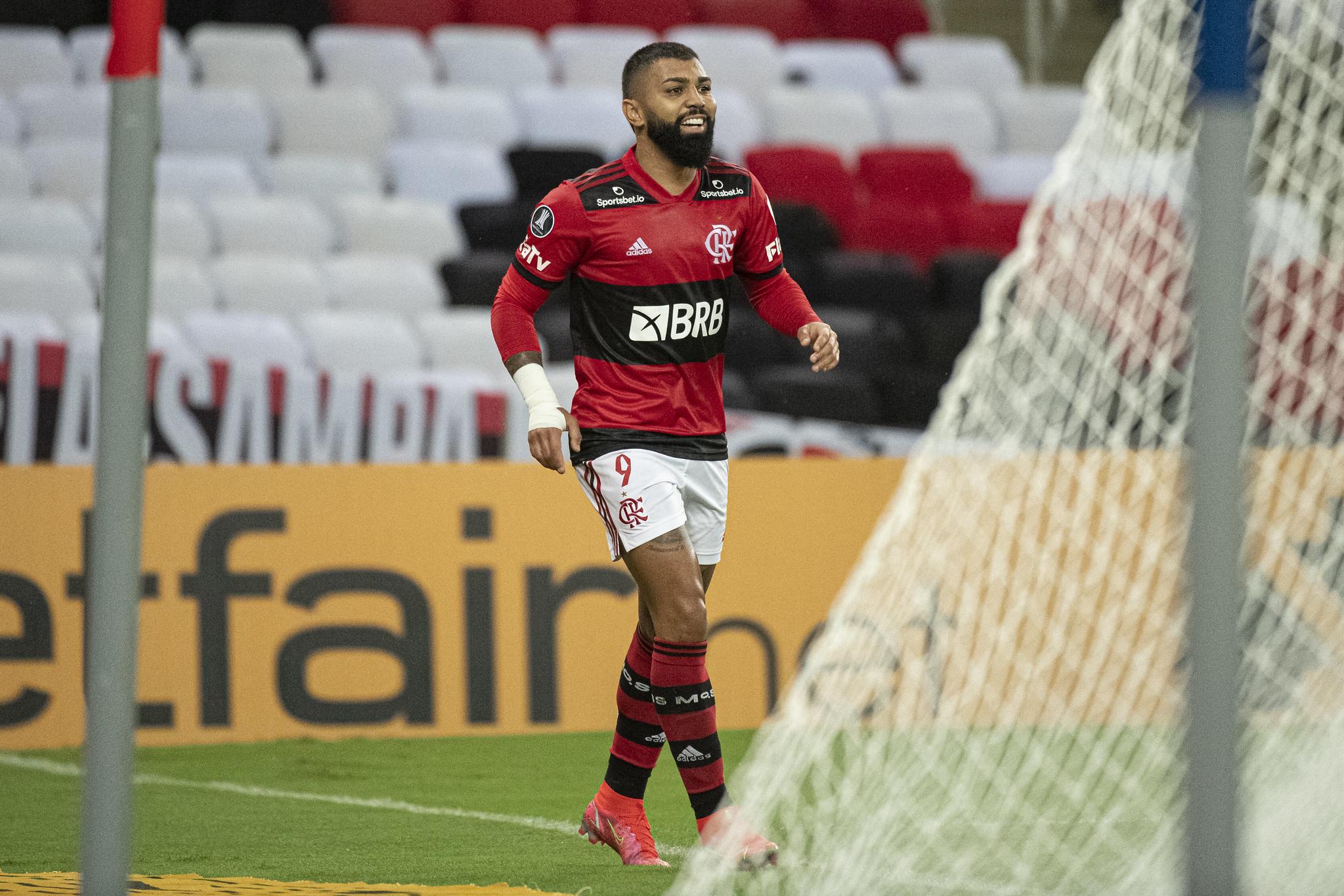 Gabigol foi um dos goleadores do Rubro-Negro carioca na vitória sobre o La Calera (Foto: Alexandre Vidal/Flamengo)