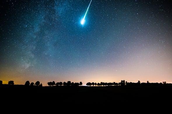 Imagem ilustrativa de meteoro (foto:flickr)