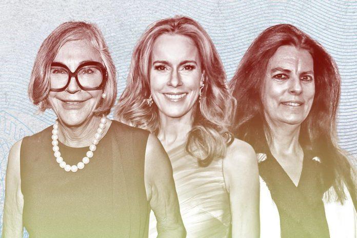 Alice Walton, Julia Koch e Françoise Bettencourt Meyers são alguns dos nomes da lista que inclui 328 mulheres bilionárias (Foto: Forbes)