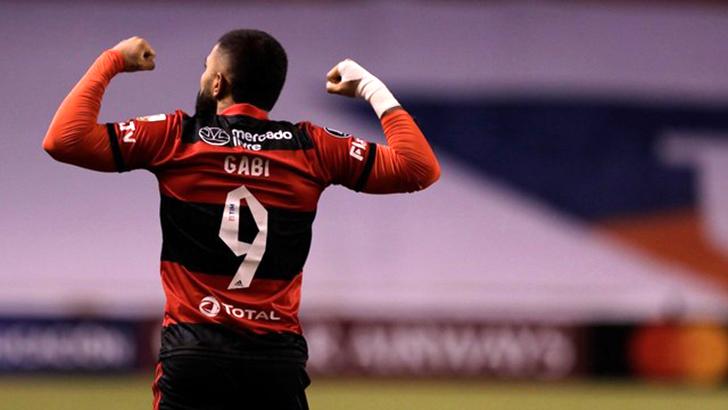 Com dois gols, Gabigol foi importante na vitória do Flamengo no Equador (Foto: Staff Images/Conmebol)
