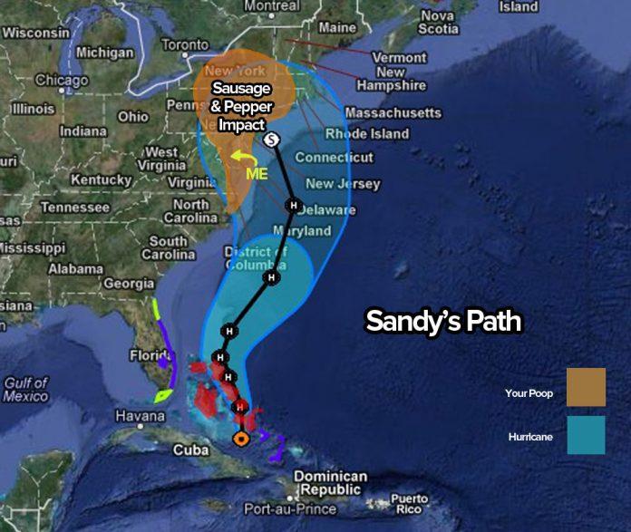 Estragos causados pelo furacão Sandy deixaram mais de $8 bilhões de prejuízo (Foto: Centro de Meteorologia dos EUA)