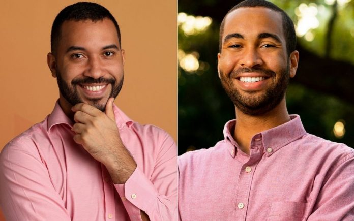Foto compartilhada pelo americano em que os dois aparecem usando uma camisa (foto: Twitter)