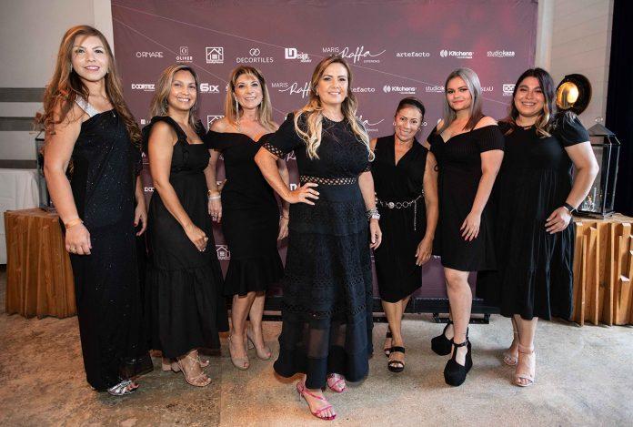 A designer brasileira Maris Raffa (à frente) em evento realizado em Miami (Foto: AMG Agency)