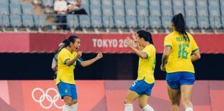 Com dois gols de Marta, Brasil goleia China por 5 a 0 na abertura dos Jogos Olímpicos de Tóquio 2020 (Foto: Sam Robles/CBF)