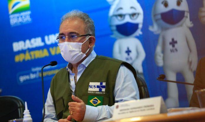 """""""Os imunizantes que podem ser utilizados em mulheres grávidas são os da Pfizer e da Coronavac. AstraZeneca e Janssen não"""", declarou o ministro, Marcelo Queiroga (Foto: Reprodução/Twitter)"""