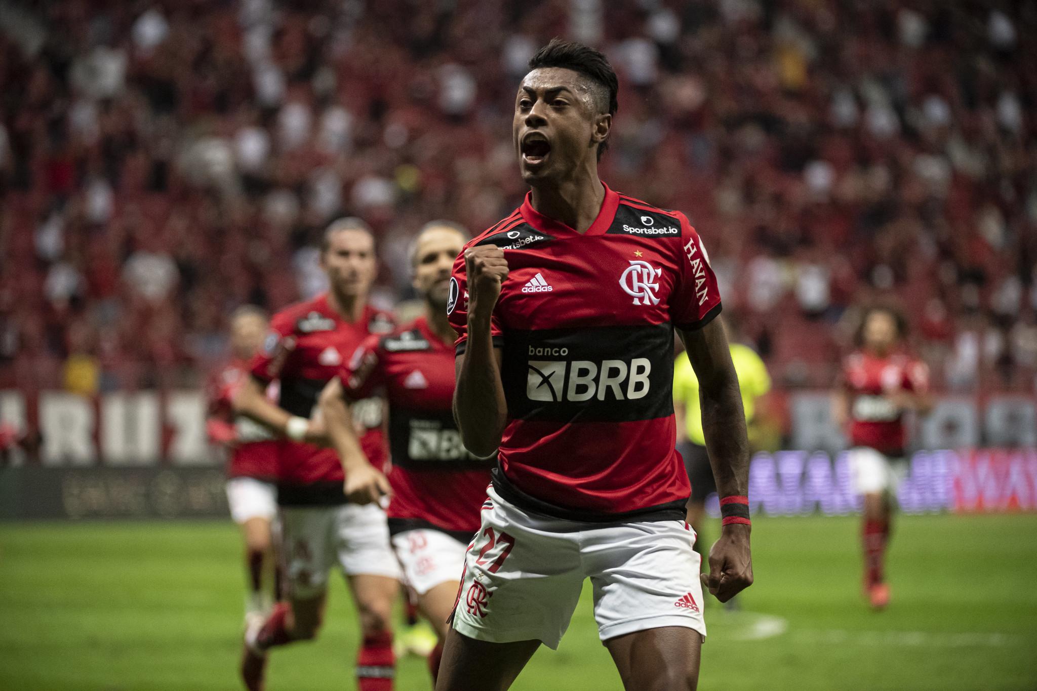 Bruno Henrique fez um dos gols do Flamengo na goleada de 5 a 1 sobre o Olimpia do Paraguai (Foto: Alexandre Vidal/Flamengo)
