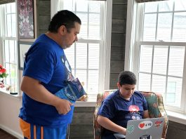 Jayme Alencar de Oliveira Filho e seu filho, Jayme Sampaio Alencar, de 12 anos (Foto: Arquivo pessoal)