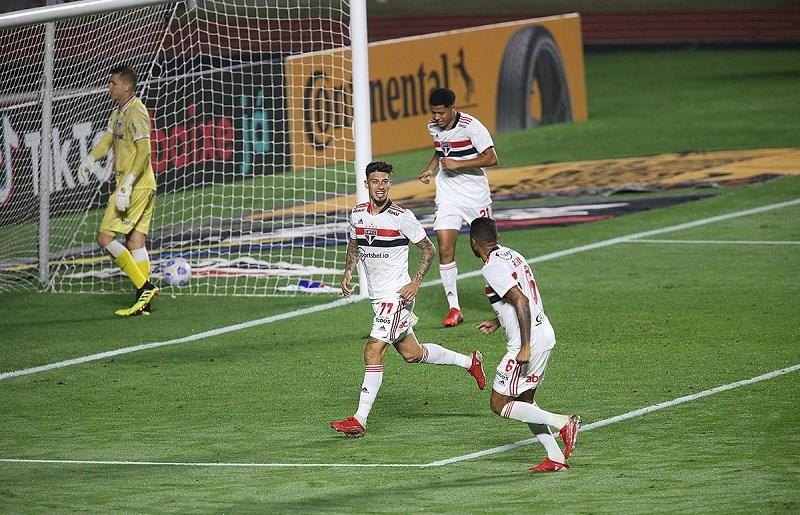 Emiliano Rigoni foi o autor dos dois gols do Tricolor paulista no empate com o Fortaleza (Foto: Paulo Pinto/Saopaulofc.net)