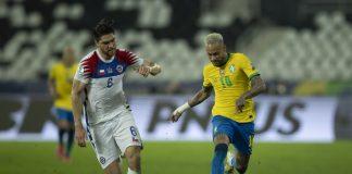 Neymar, novamente companheiro de clube de Messi, foi um dos astros da partida entre Brasil e Chile pelas Eliminatórias da Copa do Mundo (Foto: Lucas Figueiredo/CBF)