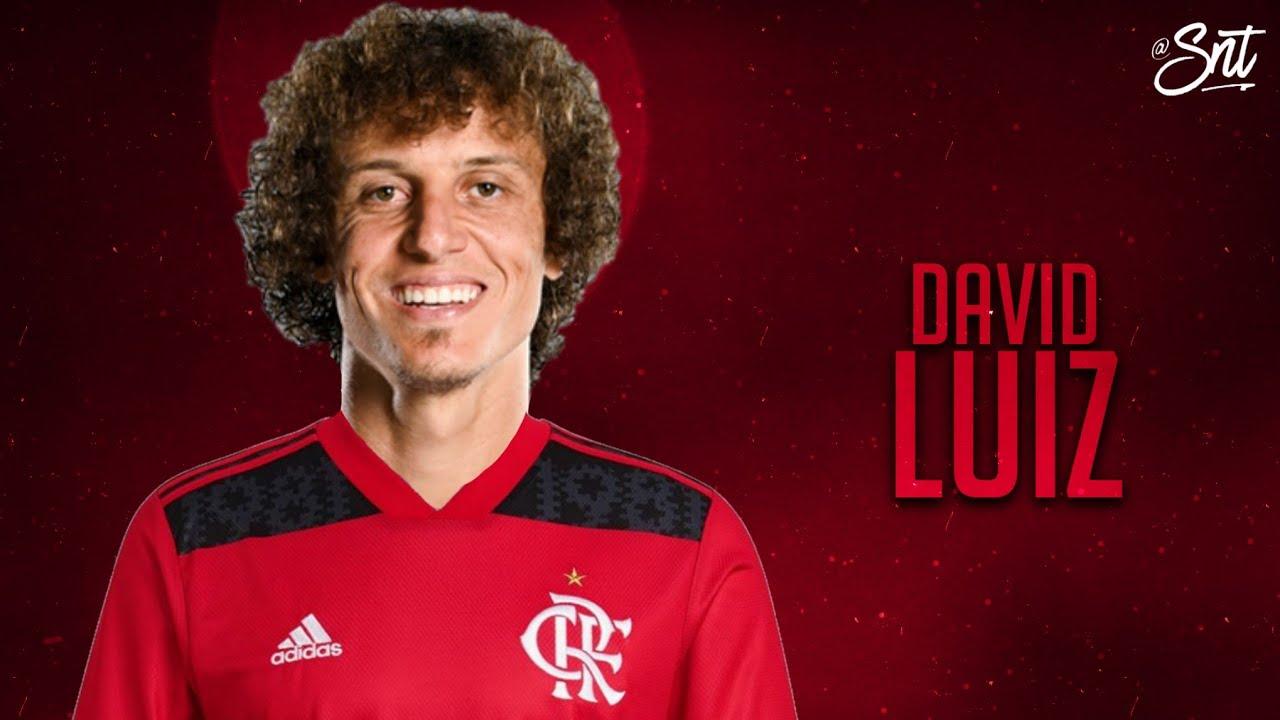 O zagueiro David Luiz, ex-Arsenal, é o novo reforço do Flamengo (Foto: Youtube)