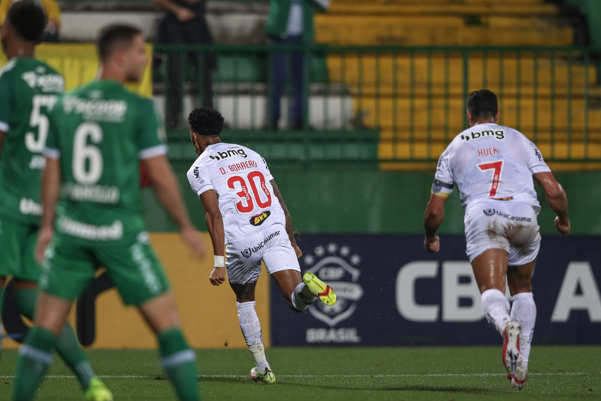 Dylan Borrero vibra com seu gol marcado contra a Chapecoense (Foto: Pedro Souza/Atlético-MG)